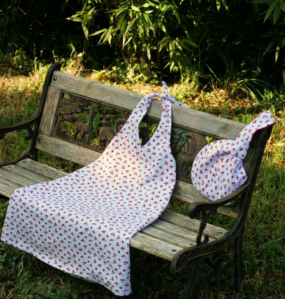Cherry dress and bag