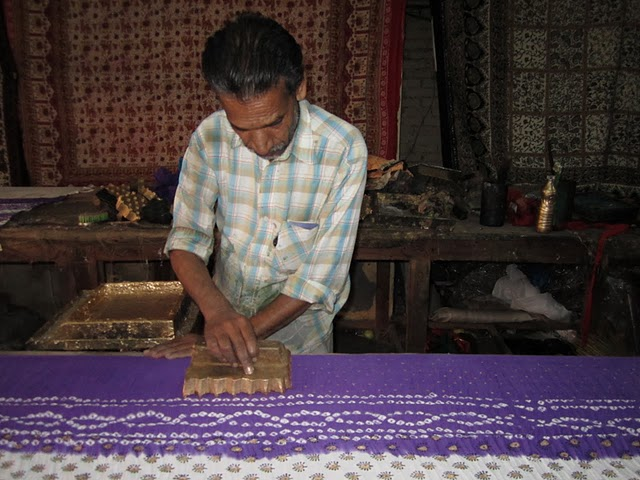 hand block printed indian fabric