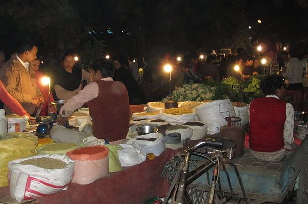 Indian market in Delhi